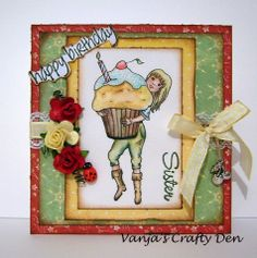 Vanja's Crafty Den / Vanjin kreativni kutak: Muffins... :)./Mafini... :) New Sunflowerfield Designs Digi Stamps