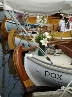 Lineup of Danish boats at Port Townsend wooden boat show