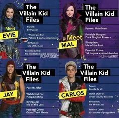 The villain kids my favorite are Jay and Mal