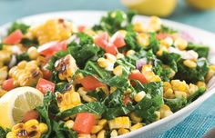 Grilled Corn and Kale Salad- made this tonight...so yummy!