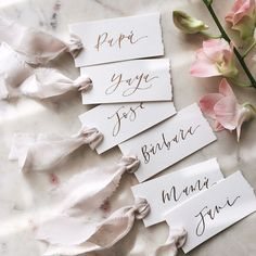 PAPEL & CO. is a modern Wedding Stationery and Branding Design company with a deep love for unique, luxe and feminine touches with a minimal approach. Modern Wedding Stationery, Wedding Stationary, Wedding Caligraphy, Wedding Name Cards, Diy Wedding Place Cards, Wedding Place Names, Rustic Invitations, Handmade Wedding Invitations, Hand Lettering
