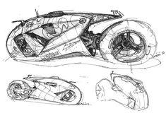 Sketchbook on Behance - 混沌 ` - Motorrad Bike Sketch, Car Sketch, Futuristic Motorcycle, Futuristic Cars, Cyberpunk, Motorbike Design, Concept Motorcycles, Industrial Design Sketch, Car Design Sketch