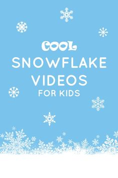 Cool Snowflake Videos for Kids Teach kids about snowflakes with these engaging videos for toddlers, preschoolers, and school age kids. Preschool Songs, Kindergarten Science, Preschool Themes, Anne Geddes, Winter Fun, Winter Theme, Winter Ideas, Fun Learning, Teaching Kids