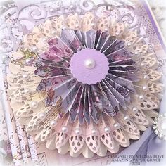 Card Making Ideas by Melissa Bove using Amazing Paper Grace 3D Vignettes Tiered Rosettes and Grand Arch - see more info at www.amazingpapergrace.com/?p=33809