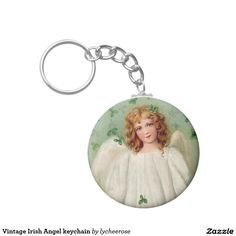 Vintage Irish Angel keychain