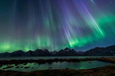 Northern Lights - Lyngen Alps in Troms, Norway