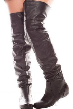 These boots feature a faux leather material featuring a fold-able top to wear just below the knee or flip them up for a over the knee look. This is great! The casual look length of boot is 25 inches u