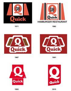 Nouveau logo de Quick vous donne-t-il faim ? Logos, Logo Branding, Branding Design, Quick Hamburger, Quick Restaurant, Nouveau Logo, Infographic, Snoopy, Vintage