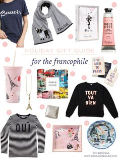 You guys know I couldn't do a gift guide series and not include a few little somethings for my fellow Francophiles! Whether she's been to Paris countless times or just plans to go one day, these gifts