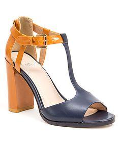 5af04e059444 Loving this Blue Tokyo T-Strap Sandal on  zulily!  zulilyfinds High Wedges