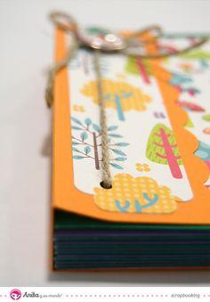 Aprende aquí a crear un precioso mini álbum archivador de tarjetas en 11 sencillos pasos.