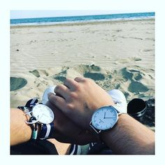 P L A G E ☀️ @claraplanes  #montre #watches #bracelet #kaptenandson #tomhope #plage #sun #cool #picsoftheday #love #lifestyle #stansmith #mer #montpellier #carnon