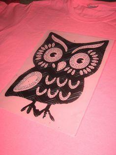 Large Bling Black Bling Owl Diy Heat Transfer by cthorses66, $11.99