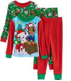 568bb130a9 Toddler Boy Paw Patrol 4-pc. Christmas Marshall  amp  Chase Pajama Set