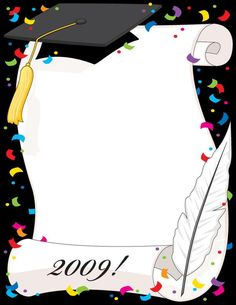 Discover recipes, home ideas, style inspiration and other ideas to try. Graduation Clip Art, Graduation Images, Kindergarten Graduation, Graduation Cards, Graduation Invitations, Borders For Paper, Borders And Frames, Boarder Designs, School Frame
