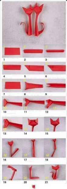 Cats origami