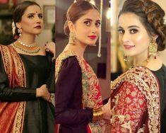 Pre Wedding Party, Pakistani Actress, Mehndi, Sari, Actresses, Flowers, Fashion, Saree, Female Actresses