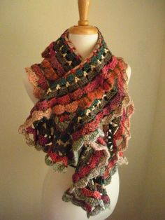 Colorful scarves, free crochet patterns