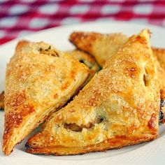 Apple Cinnamon Turnovers in Sour Cream Pastry - perfect picnic or lunchbox food or serve these light buttery pastries warm with a scoop of vanilla ice cream for a great comfort food