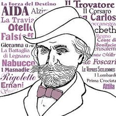 Italian Music ~ Giuseppe Verdi was an Italian century composer. One of the most influential opera composers of all time and still now one of the most popular and most performed of opera composers. Caricatures, Claudio Monteverdi, Cavalleria Rusticana, Dead Can Dance, Make Mine Music, Classical Music Composers, The Italian Job, The Lone Ranger, Unique Poster