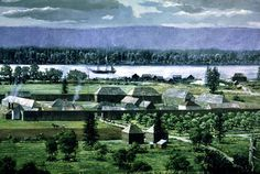 Fort Vancouver, in Vancouver, Washington. This is where the Hudson's Bay Company was located. Lewis and Clark travelled here by land while the Hudson's Bay Company arrived by water ways.