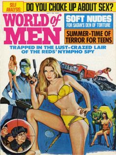 World of Men Magazine Cover Art - Cards Book - Men's Adventure Pulp Mag Magazine Cover Layout, Magazine Covers, Trading Card Sleeves, Vintage Magazines, Men's Magazines, Shakespeare Characters, Adventure Magazine, Best Stocking Stuffers, Pulp Magazine