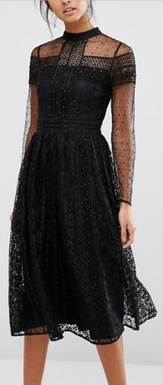 frill high neck dress                                                                                                                                                                                 More
