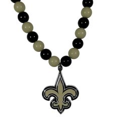New Orleans Saints 24 inch Fan Bead Necklace NFL Licensed
