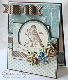 Botanical Tea Graphic 45 Bird Stamp with Paper
