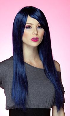 Blush Divine Fantasy Style Synthetic Wig Midnight Blue We...