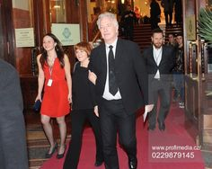 RIma holds Alan's arm...how sweet. Alan Rickman and Rima Horton at the 22nd Febiofest International Film Festival-March 19, 2015.
