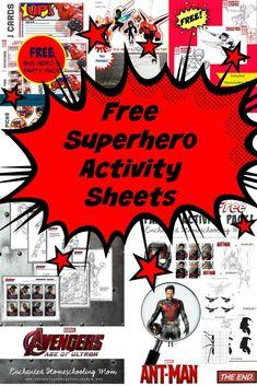 Free Superhero Activity Sheets - Crafts on Sea