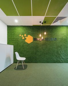 A Welcoming Living Wall At Mage Offices