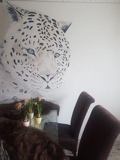 Muurschildering luipaard