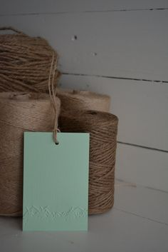 Grass embossed edge gift tags set of 20 from mint green textured cardstock, big size---Wedding favors, wish tree, babyshower or on presents