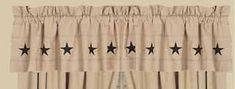 Danville Star Nutmeg & Black Lined Curtain Valance 72 x 15.5 Valances & Cornices, Valance Curtains, Black Lined Curtains, Lucky Star, Home Collections, Window Treatments, Stars, Link, Image
