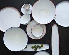 abbesses dinnerware - canvas