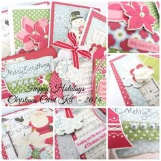 Happy Holidays Christmas Card Making Kit DIY 2014 - Bright and Colourful Christmas Cards to make yourself. All products, photos and instructions included Koko Vanilla Designs Christmas Cards To Make, Christmas Crafts, Happy Holidays, Christmas Holidays, Card Making Kits, Unique Cards, Winter Cards, Card Kit, Craft Activities