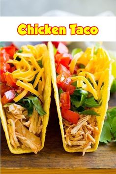 Smooth elements including shredded chicken, cheese, lettuce, to. Yummy Chicken Recipes, Fun Easy Recipes, Chicken Thigh Recipes, Mexican Food Recipes, Healthy Recipes, Ethnic Recipes, Taco Chicken, Mexican Meals, Turkey Recipes
