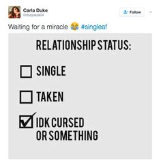 When you're filling out important paper work and wish there was more than two options: | 18 Tweets That Anyone Who Is Single AF Will Find Hilariously Relatable