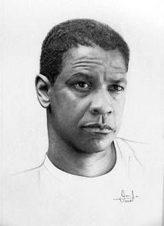 Denzel Washington by valeriafernand on deviantART ~ pencil art by Valeria Fernandez