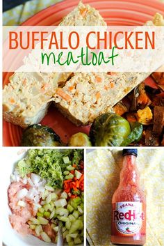This buffalo chicken meatloaf is packed with vegetables and flavor, making it the perfect easy dinner. A great dish for meal prep! Clean Dinner Recipes, Clean Eating Dinner, Clean Eating Recipes, Healthy Eating, Dinner Healthy, Healthy Dinners, Lunch Recipes, Real Food Recipes, Healthy Recipes