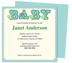 Baby Shower Invitations : Colors Shower Invitation Template