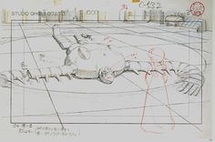 Film: Castle In The Sky ===== Layout Design: Sheeta Meets Laputa's Robot ===== Characters Shown: Sheeta, Robot ===== Production Company: Studio Ghibli ===== Director: Hayao Miyazaki ===== Producer: Isao Takahata ===== Written by: Hayao Miyazaki ===== Distributed by: Toei Company