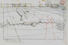 Film: Castle In The Sky ===== Layout Design: Sheeta Meets Laputa's Robot ===== Characters Shown: Sheeta, Robot ===== Production Company: Studio Ghibli ===== Director: Hayao Miyazaki ===== Producer: Isao Takahata ===== Written by: Hayao Miyazaki ===== Distributed by: Toei Company