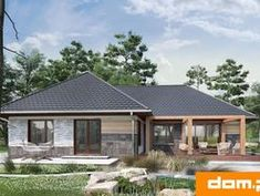 DOM.PL™ - Projekt domu AN TYMOTEUSZ G2 CE - DOM AO10-56 - gotowy koszt budowy Home Fashion, Outdoor Structures, Cabin, House Styles, Home Decor, Cabins, Cottage, Interior Design, Home Interior Design