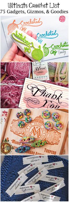 The Ultimate Crochet List! With free downloadable checklist... total of 84 items on the list!