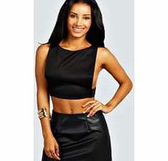 boohoo Anne Open Side Scuba Crop Top - black azz25454 Transparent evening tops are everywhere this season. Shake it up in sheer shell tops, panelled shirts and cutting-edge crops. Add attitude in an A line skirt and slinky strappy heels . Statement separ http://www.comparestoreprices.co.uk/womens-clothes/boohoo-anne-open-side-scuba-crop-top--black-azz25454.asp