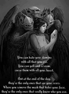 I shape my demons. I embrace the darkness when I'm alone. My demons don't help me anymore. They're too afraid of me. Inner Demons, My Demons, Dark Quotes, Me Quotes, Edgy Quotes, Devil Quotes, 2pac Quotes, Beast Quotes, Small Quotes