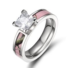 Fashion 5MM Titanium Ring Pink Tree Camo CZ Cubic Zircon Engagement Wedding Band in Jewelry & Watches, Fashion Jewelry, Rings | eBay